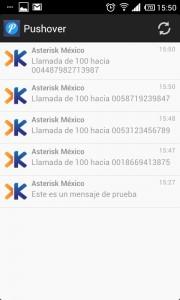 Notificaciones de llamadas de Asterisk en Pushover