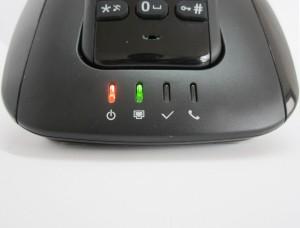 Indicadores de la base: power, ethernet, registro y llamada